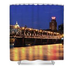 Walnut Street Bridge Shower Curtain by Shelley Neff