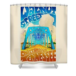 Walnut Street Poster Shower Curtain