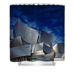 Walt Disney Concert Hall Shower Curtain by Anthony Dezenzio