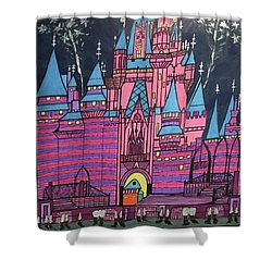 Walt Disney World Cinderrela Castle Shower Curtain by Jonathon Hansen