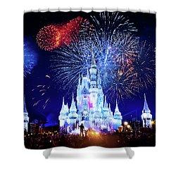 Walt Disney World Fireworks  Shower Curtain by Mark Andrew Thomas
