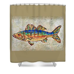 Walter The Walleye Shower Curtain