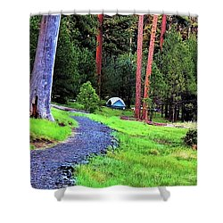 Walton Lake Campground Shower Curtain by Michele Penner