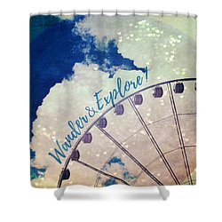 Wander And Explore Shower Curtain by Robin Dickinson