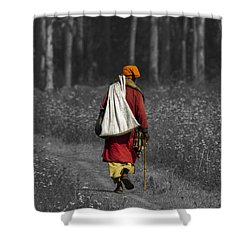 Wandering Holy Man Shower Curtain