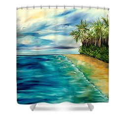 Wandering Through Turquoise Days Shower Curtain