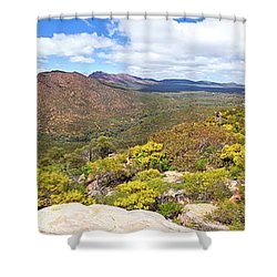 Wangara Hill Flinders Ranges South Australia Shower Curtain by Bill Robinson