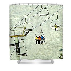 Shower Curtain featuring the photograph Wanna Lift by Wendy McKennon