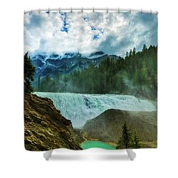 Wapta Falls 3 Shower Curtain
