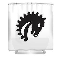 War Horse Spiked Mane Side Retro Shower Curtain