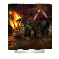 Shower Curtain featuring the photograph War - Wwi - Not Fit For Man Or Beast 1910 by Mike Savad
