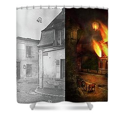 Shower Curtain featuring the photograph War - Wwi -  Not Fit For Man Or Beast 1910 - Side By Side by Mike Savad