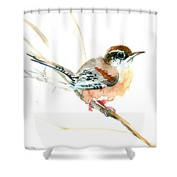 Warbler Songbird Art  Shower Curtain