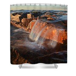Wards Beach Waterfall-1 Shower Curtain