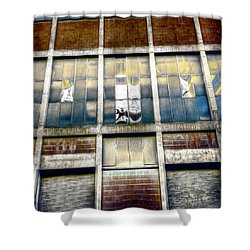 Shower Curtain featuring the photograph Warehouse Wall by Wayne Sherriff