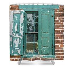 Warehouse Window With Shutter Shower Curtain