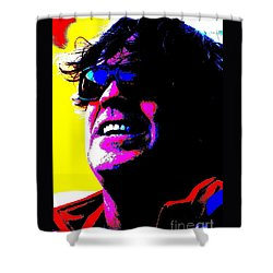 Shower Curtain featuring the photograph Warhol Robbie by Jesse Ciazza
