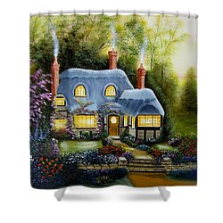 Warm And Cozy Cottage Shower Curtain