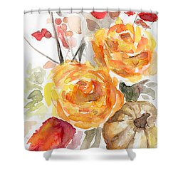 Warm Autumn Shower Curtain