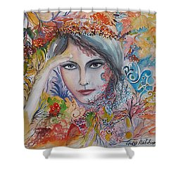 Warm Autumn Shower Curtain by Rita Fetisov