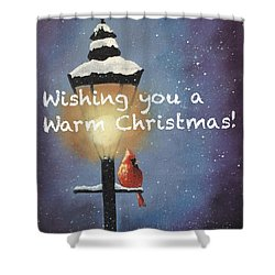 Warm Christmas Shower Curtain by Sharon Mick