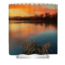 Shower Curtain featuring the photograph Warm Evening by Davor Zerjav
