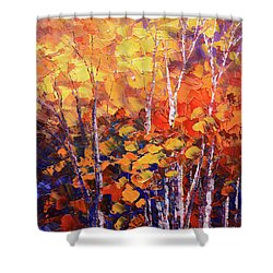 Warm Expressions Shower Curtain