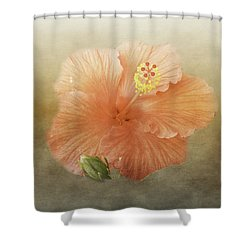 Warm Hibiscus Shower Curtain