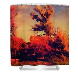 Warm Memories Shower Curtain by Paul Cristian Panaete