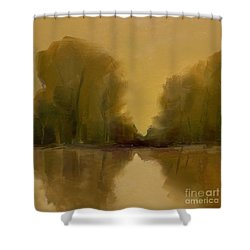 Warm Morning Shower Curtain