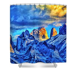 Warm Mpuntain Tops Shower Curtain