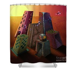 Warm Silence Shower Curtain