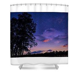 Warm Starry Nights Shower Curtain