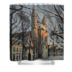 Warm Winterlight Olv Plein Shower Curtain