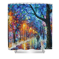 Warmed By Love Shower Curtain by Leonid Afremov