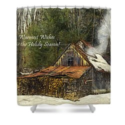 Shower Curtain featuring the photograph Warmest Wishes For The Holiday Season Greeting Card by Betty Denise
