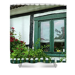 Warnemunde Germany Window Shower Curtain by Eva Kaufman