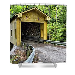 Warner Hollow Covered Bridge Shower Curtain