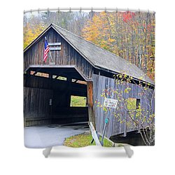 Warren Covered Bridge In Vermont Shower Curtain