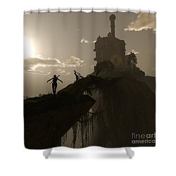 Warrior Fae Shower Curtain
