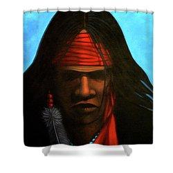 Warrior Shower Curtain by Lance Headlee