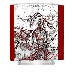 Warrior Moon Anime Shower Curtain by Vennie Kocsis