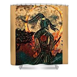 Warrior Moon Shower Curtain by Vennie Kocsis