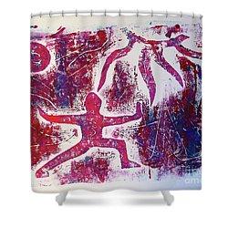 Warrior One  Shower Curtain