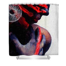 Shower Curtain featuring the digital art Warrior Princess by Serge Averbukh
