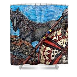 Warrior Spirit Shower Curtain