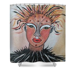Shower Curtain featuring the painting Warrior Woman  #3 by Sharyn Winters