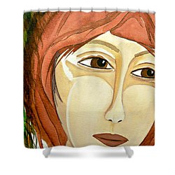 Warrior Woman - No Apologies Shower Curtain by Jean Fry