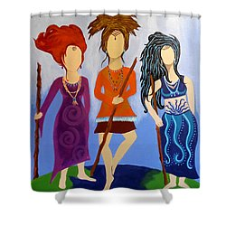 Warrior Woman Sisterhood Shower Curtain