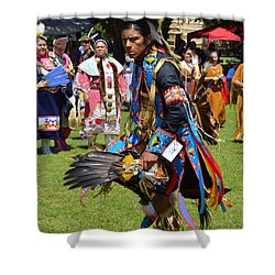 Shower Curtain featuring the photograph Warriors Dance by Lew Davis